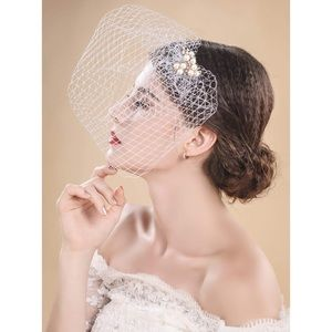 ✨4/$15 Bridal Birdcage Fascinator Wedding Veil